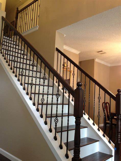 wrought iron balusters with wood treads vip services