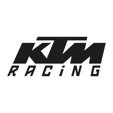 KTM Racing black vector logo   KTM Racing black logo