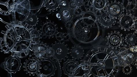 wallpaper engine downloading slow transparent gear mechanism background with glass