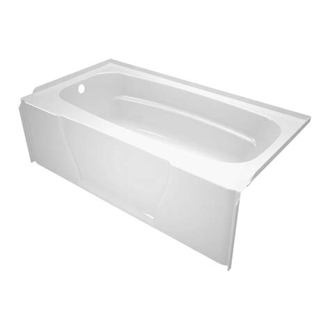 bathtub drain home depot firenze 5 ft left hand drain bathtub in white 40004l