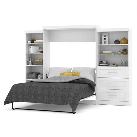wall bed kits bestar pur by bestar 126 quot queen wall bed kit in white ebay