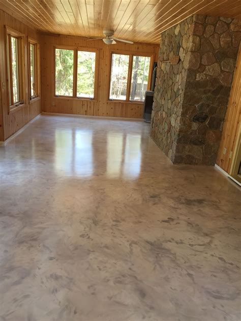 interior floor paint metallic epoxy floor coating with satin non slip finish by sierra concrete arts interior