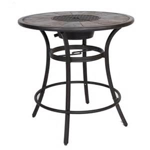 Patio Table L Shop Allen Roth Safford 40 In W X 40 In L Aluminum Bar Table At Lowes