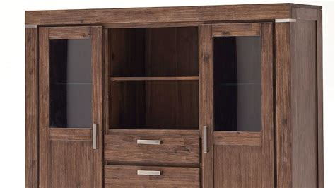 highboard schrank highboard schrank in akazie massiv braun