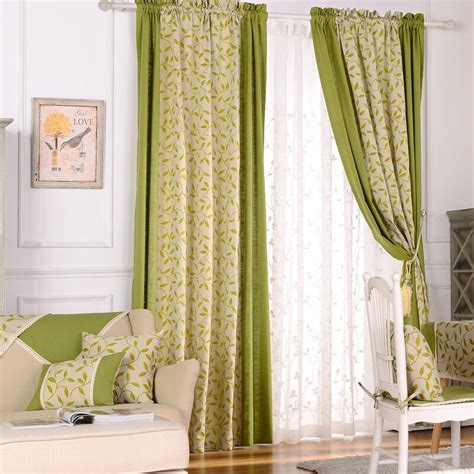 drapery window treatments curtains home country curtain drapes leaf thread curtain