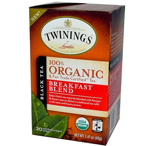 Twinings Detox Tea Bags by Twinings 100 Organic Black Tea Breakfast Blend 20 Tea