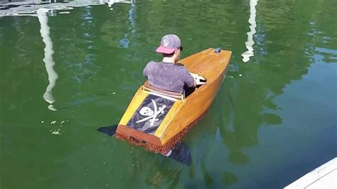 mini electric boat plywood mini boat electric hydro fins youtube