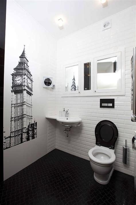 trend  powder rooms  black  white