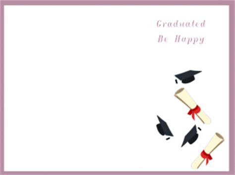 graduation card template printable printable graduation cards