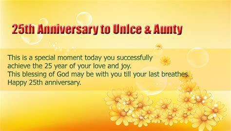 Wedding Anniversary Message In Kannada by 122 25th Anniversary Wishes Quotes Messages Hd Images