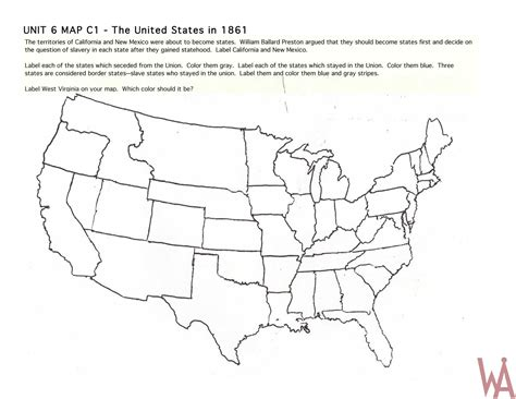 map of usa 1861 blank outline map of the usa 1861 whatsanswer