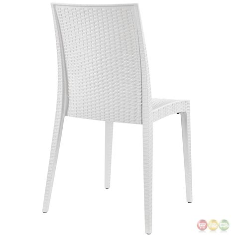 white patterned dining chairs intrepid modern plastic criss cross patterned dining side