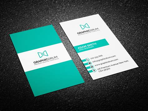 business card for free clean business card design