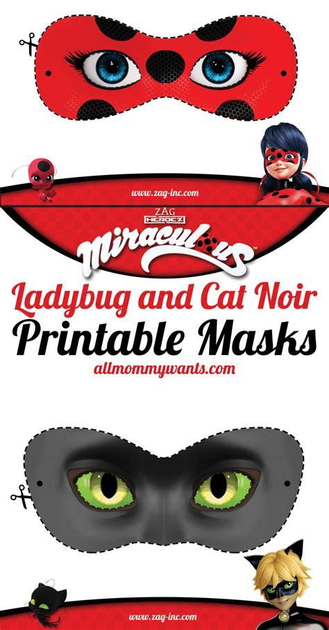 printable ladybug mask printables miraculous adventures of ladybug and cat noir