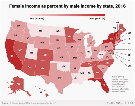 wage gender gap one map shows how much more money make than in
