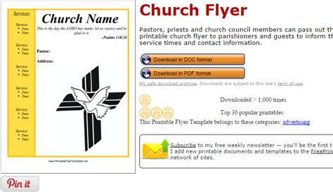 free church brochure templates for microsoft word 5 free church flyer templates af templates