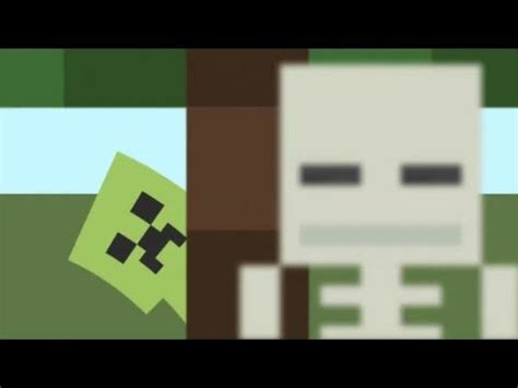 free skeleton and creeper minecraft intro windows movie