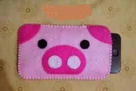 Gantungan Hp Sanrio Hello Golden Pig kerajinan tangan tempat hp flanel pig