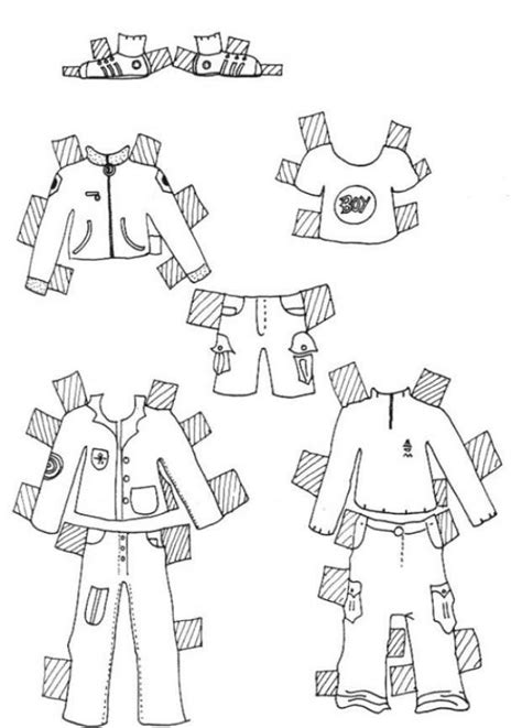 Clothes for boy model coloring pages - Hellokids.com