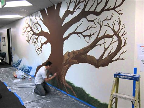 tree of wall mural local splash family tree mural project trees on walls tree murals