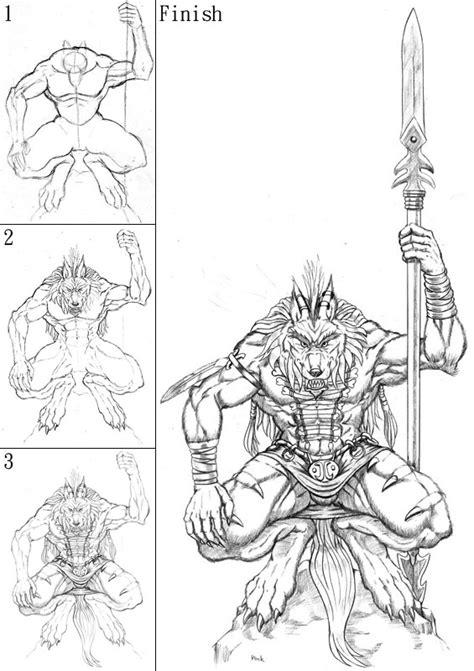 step 10 how to draw a werewolf transformation werewolf niin totta kuin el 228 n blogi heijastuksia liivit
