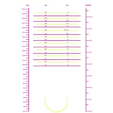 shoe size chart preschool printable shoe size chart kiddo shelter