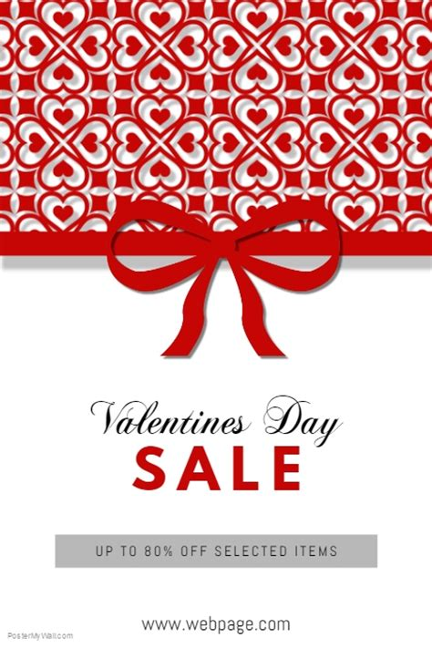 free valentines day flyer templates free customisable valentines day sale flyer poster