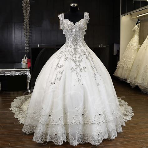 Cathedral Wedding Dress by Luxurious Beading Gown Cathedral Wedding