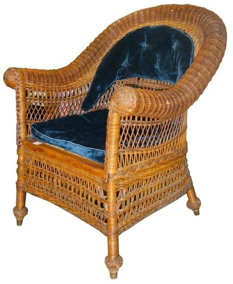 antique wicker sofa with springs jean mcclelland antique wicker can be identified by their