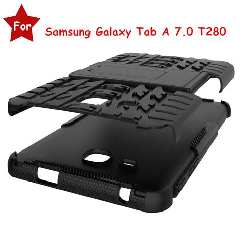 Premium Rugged Armor Samsung Tab A 2016 7 T280 T285 Casing Back cheap for samsung galaxy tab a 7 0 t280 t285 tablet heavy duty defender rugged tpu pc armor