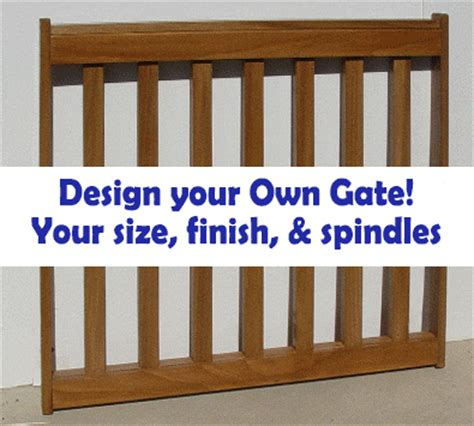 Safety Gate For Top Of Stairs With Banister Gates2u Custom Pet Gates Custom Baby Gates Custom Deck