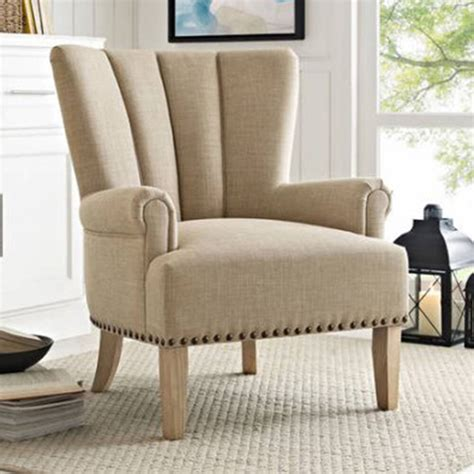 modern accent chairs chair accent upholstered beige living room furniture seat