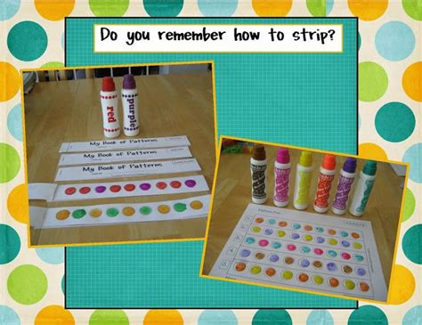 pattern reading books for kindergarten free pattern strip book printable great with bingo