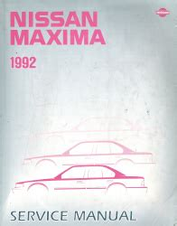 car repair manual download 1992 nissan maxima spare parts catalogs 1992 nissan maxima factory service manual