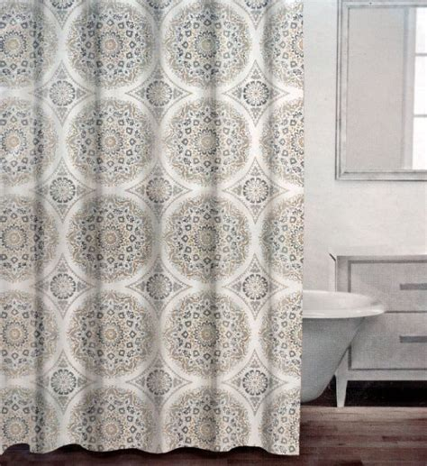 grey and tan shower curtain hookless white brown fabric shower curtain overstock