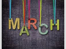 Image Of March Word - Letters Hanging Strings H Alphabet In Style