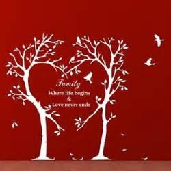 Wall Stickers Family Quotes family tree wall art sticker inspirational love birds
