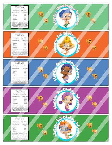 8 best images of bubble guppies birthday party printables