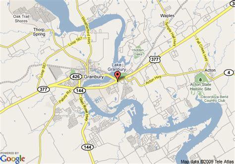 map of granbury texas map of best western granbury inn and suites granbury