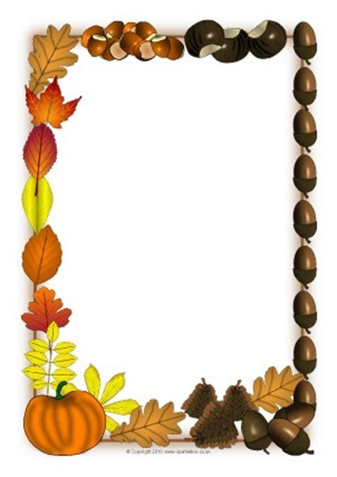 printable fall leaves border autumn season primary teaching resources and printables