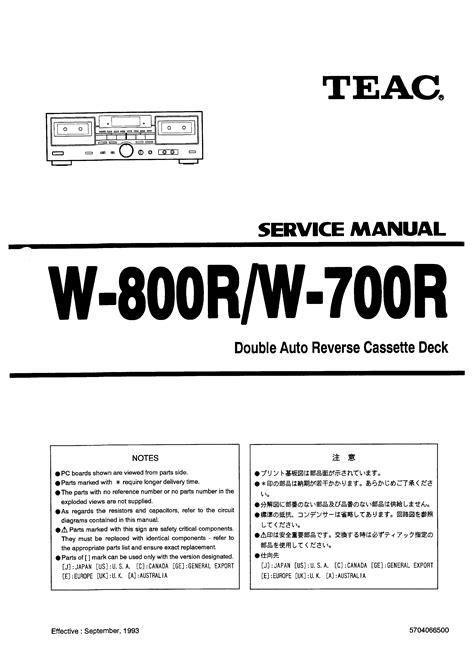 service manual free repair manual for a 2001 acura integra acura integra 1994 2000 service teac w 700r service manual immediate download