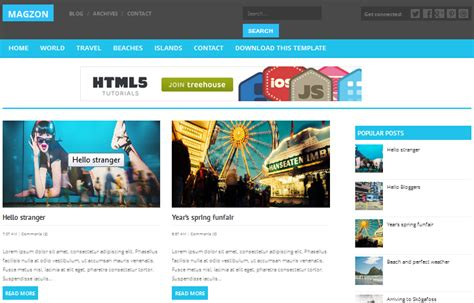 downloads magzon responsive clean blogger templates