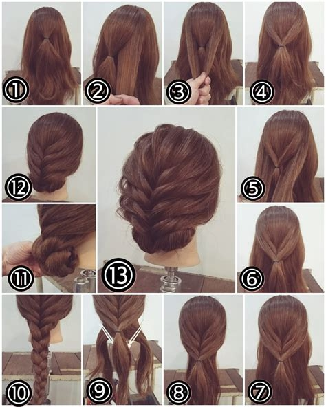 Easy Hairstyles For With Hair by Zopf Hochsteckfrisur Lange Haare Braids