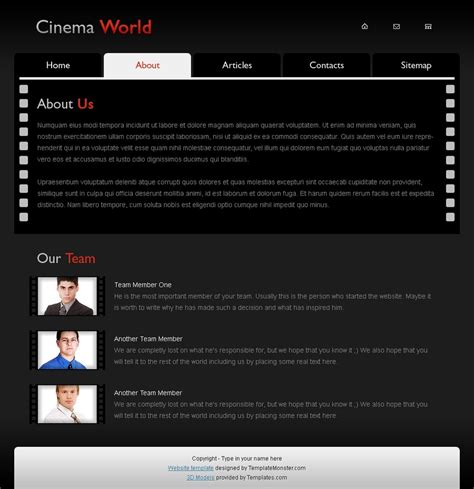 bid websites free cinema website template