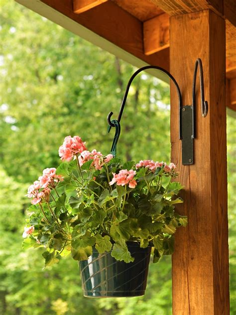 design hanging flower baskets how to support and water hanging baskets hgtv