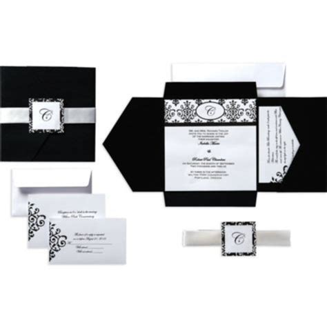 black and white wedding invitation kits discover and save creative ideas