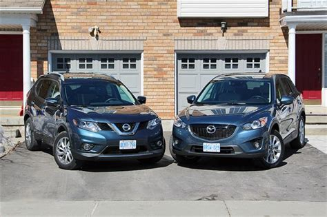 nissan mazda 5 comparison 2014 nissan rogue vs 2014 mazda cx 5