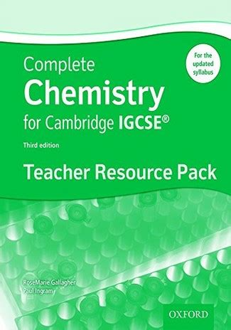 complete chemistry for cambridge 0198399146 complete chemistry for cambridge igcse teacher resource packrosemarie gallagher the igcse bookshop