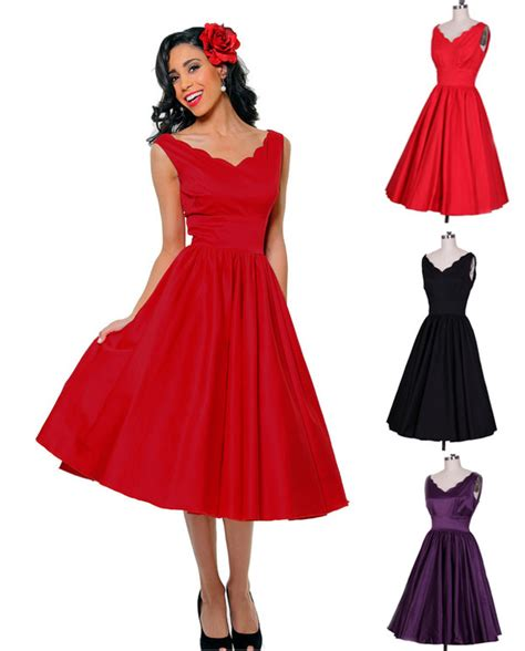50s swing fashion dress 50s dress hepburn pin up swing dress