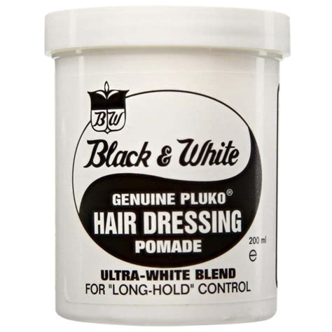Black Pomade black white genuine pluko hair dressing pomade